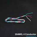 20AWG 4-Strand Quad Twisted Wire - Red, Green, Blue, White
