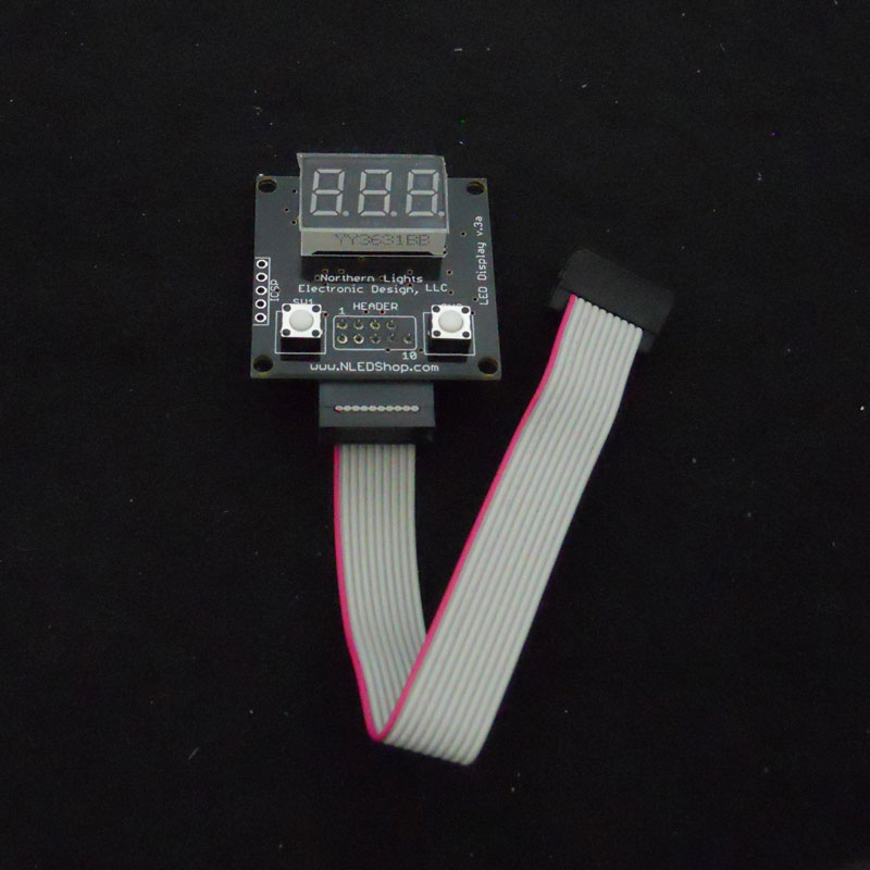 blue led display 3 digit external ribbon cable