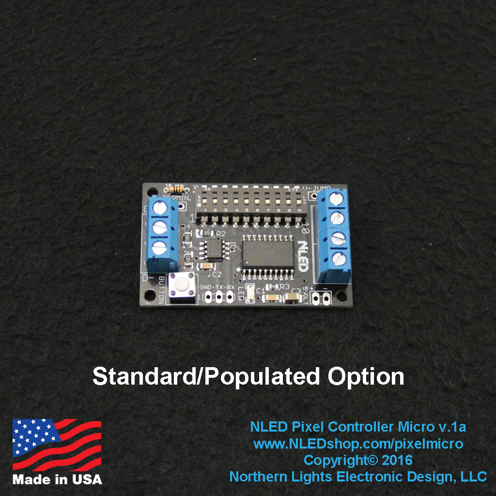 NLED Pixel Controller Micro - WS2812, APA102, SK6812 + More - Click Image to Close