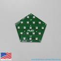 APA102 LED Panel - 16 Pixel Pentagon