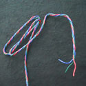 22AWG 3-Strand Twisted Wire - Red, Green, Blue - Per Foot