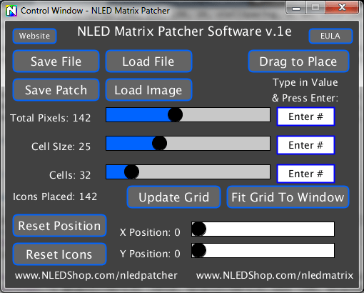 NLED Patcher Software - Pixel Mapping - Northern Lights