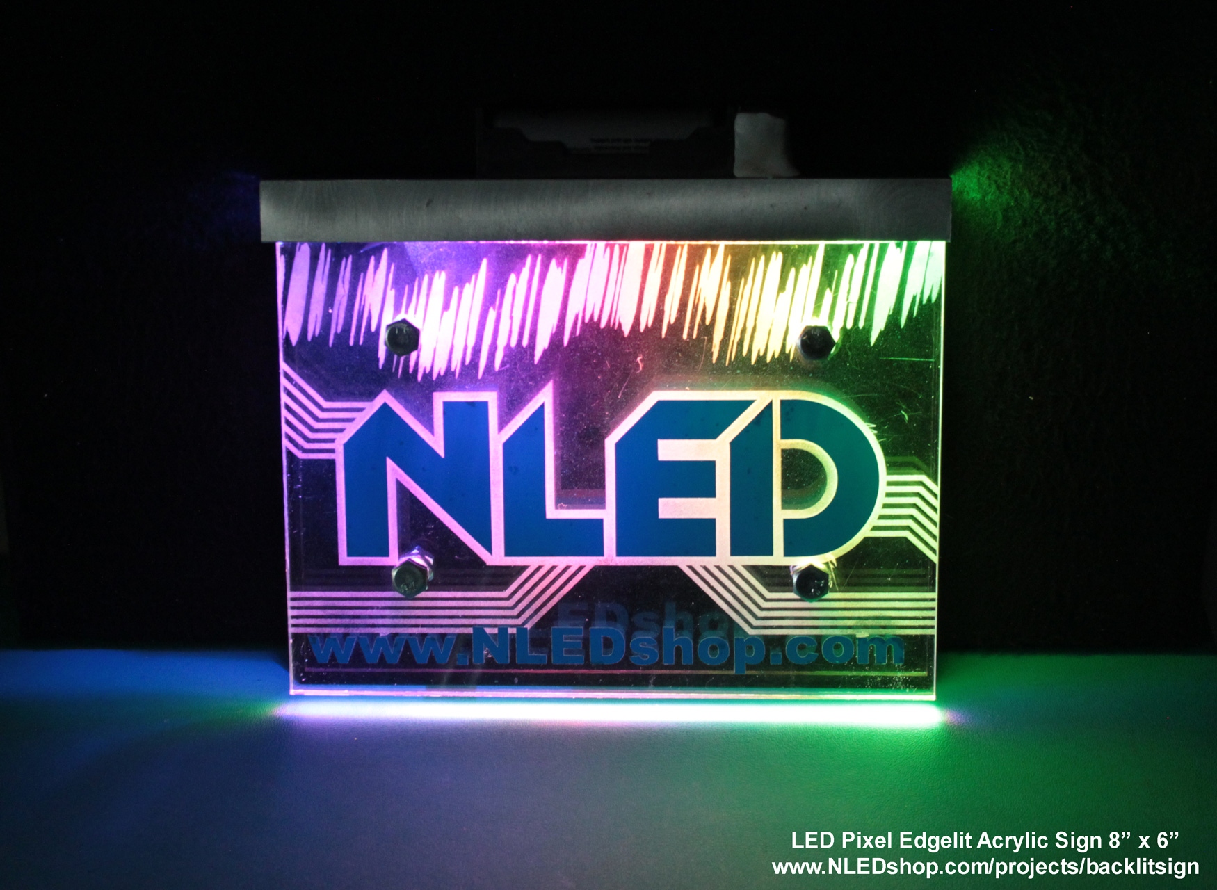 LED Pixel Edge Lit Acrylic Sign - Electronic Design, LLC