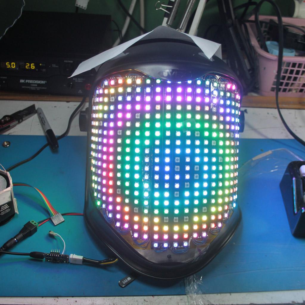 Nled Custom Led Matrix Face Visor Electronic Design Llc Matrices Mask
